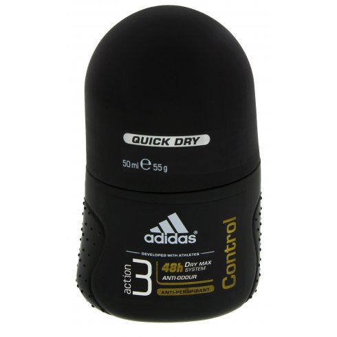 Adidas Deodorant Roll-on action 3 Control for Men, 50ml. Anti-perspirant