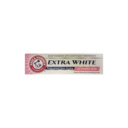Arm & Hammer Extra White Sensitive Toothpaste 125 ml Daily Fluoride Anti - Cavity Mint Toothpaste