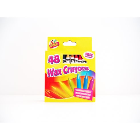 Artbox Wax Crayons Pack of 48 With Free sharpener