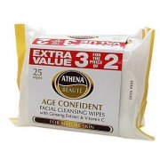 Beauty Age Confident Facial Cleansing Wipes 3 For the Price of 2 with Ginseng Extract & Vitamin C