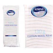 Cotton Wool Pleat 130g Plain White