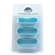 Nail Brushes Pack of 3 Plastic Handles