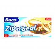 Baco Zip 'n' Seal Resealable Sandwich Bags pack of 25