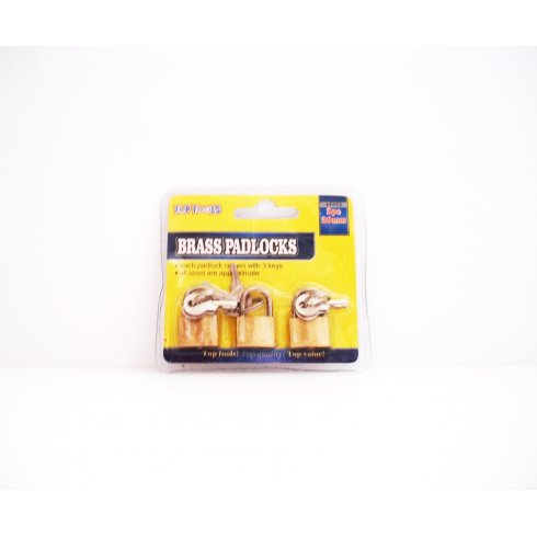Brass Padlocks Pack of 3 Each Padlock comes with 3 Keys