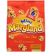 Maryland Mini Choc Chip 6 Snack Pack 150g Choc full of Yumminess
