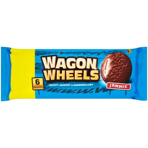 Burton's Wagon Wheels Jammie Biscuits 6 Pack 216g