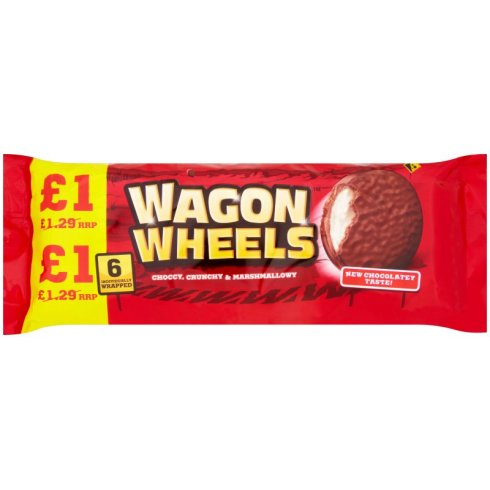 Burton's Wagon Wheels Original Biscuits 6 Pack 216g