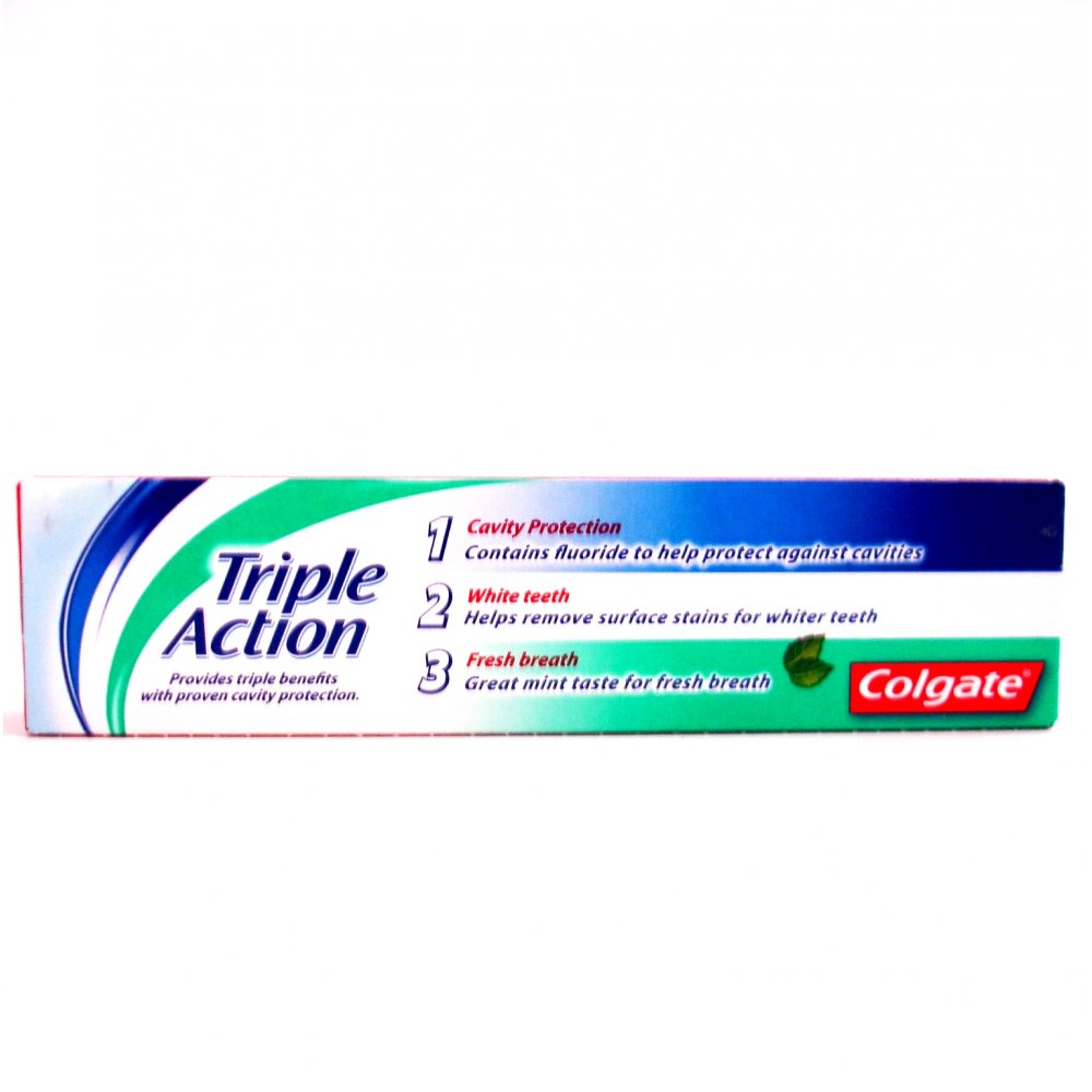 Colgate Fluoride Toothpaste Triple Action Original Mint ...