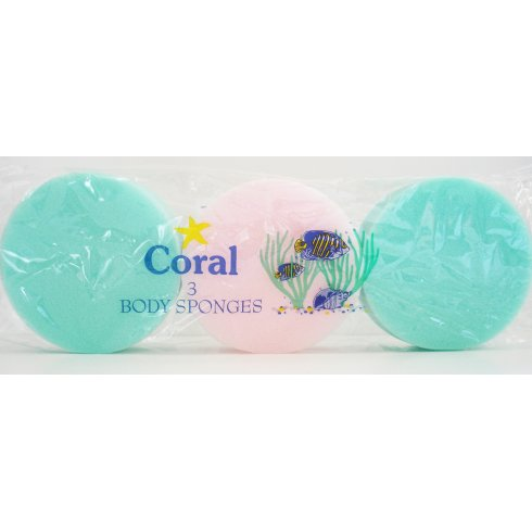 Coral Body Sponges 3 Pack