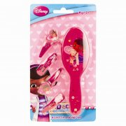 Doc McStuffins Hair Brush and Clips Set