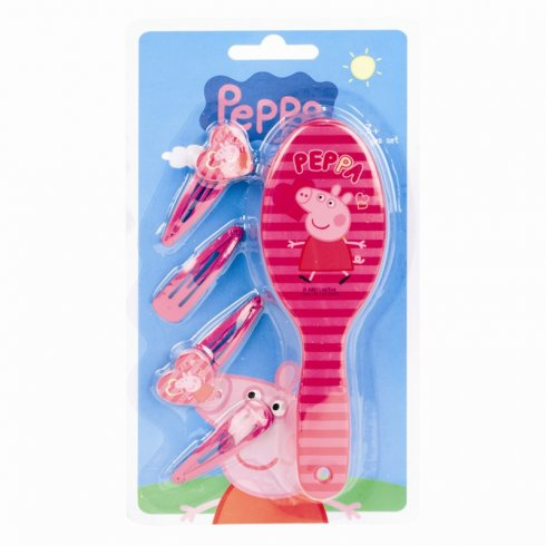 Disney Peppa Pig Hair Brush And Clips Set Disney From