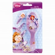 Sofia the First Hair Brush and Clips Set