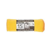 Extra Value Cotton Dusters Yellow 15 Pack