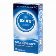 exure get closer Natural Pleasure Condoms 18 Pack