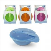 First Steps Travel Feeding Bowl With Spoon Lid Diameter 5.5in Approx