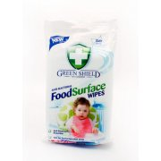 Green Shield Anti-Bacterial Food Surface Wipes 50pk New