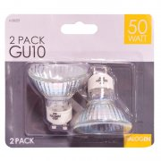 GU10 Halogen Light Bulbs 50w Pack of 2
