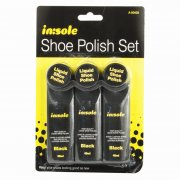 in:sole Shoe Polish Set Liquid Shoe Polish Pack of 3 Black