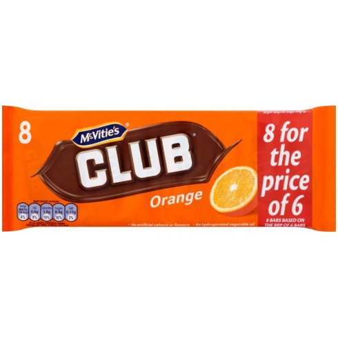 Jacob's Club Orange 8 For The Price Of 6 Multipack 181g