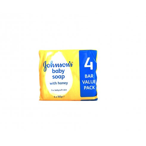 Johnsons Baby Soap with Honey 4 x 100g Bars