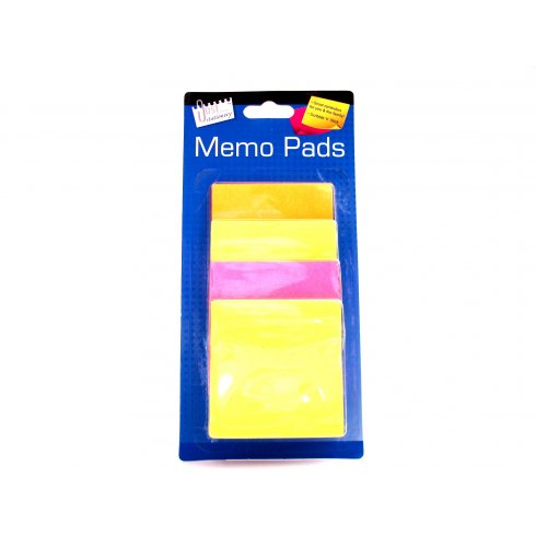 Just Stationery Sticky Memo Pads Assorted Colours
