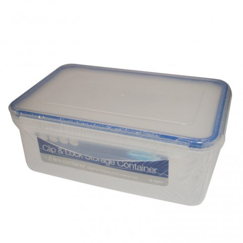 Keep Fresh Clip & Lock Storage Container Rectangular 1.6 litre Capacity