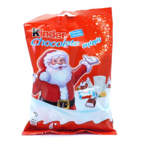 Kinder Chocolate Minis More Milk Less Cocoa 90g From Ferrero ...