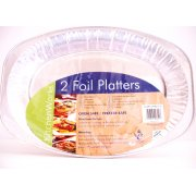 Kitchenworks Foil Platters 2 Pack Oven Safe and Freezer Safe