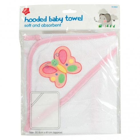 Little Stars Hooded Baby Towel Soft and Absorbent 50.8cm x 61cm Approx