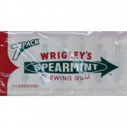 Wrigley's Spearmint Chewing Gum 7 Pack x 5 Sticks in Each Pack