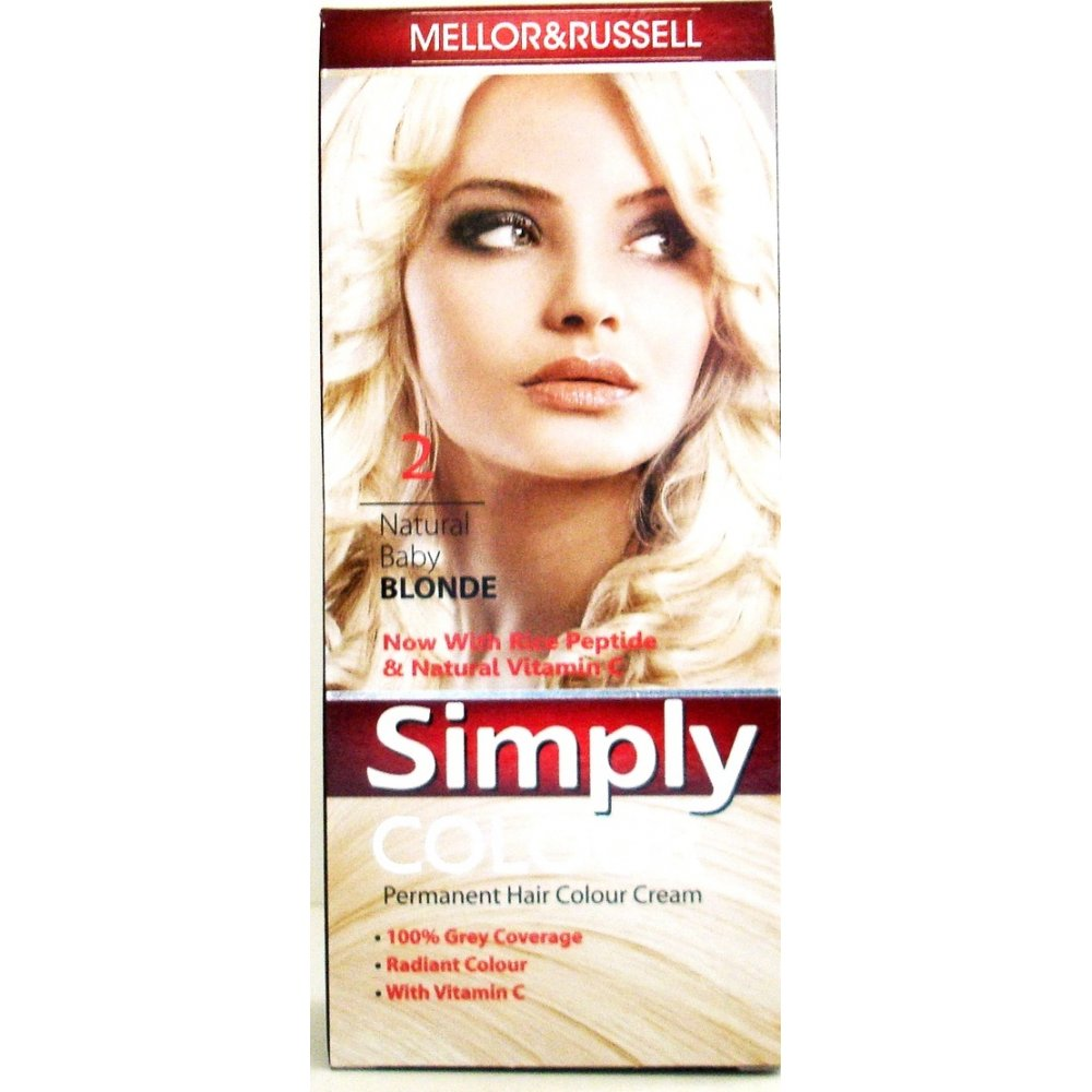 Mellor Amp Russell Simply Colour Natural Baby Blonde