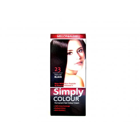 Mellor & Russell Simply Colour Natural Black Permanent Hair Dye No 2.0
