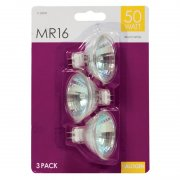 MR 16 Halogen Light Bulbs 50w Pack of 3 Warm White
