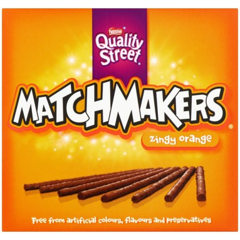 Nestle Quality Street Matchmakers Zingy Orange Chocolate Box 130g