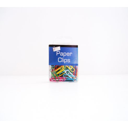 Plastic Coated Assorted Paper Clips in A case