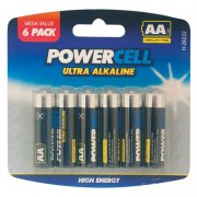 Ultra Alkaline Batteries AA 1.5v Mega Value 6 Pack