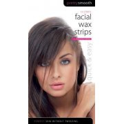 Pretty Smooth Facial Wax Strips with Finishing Wipes Pack of 16 Strips