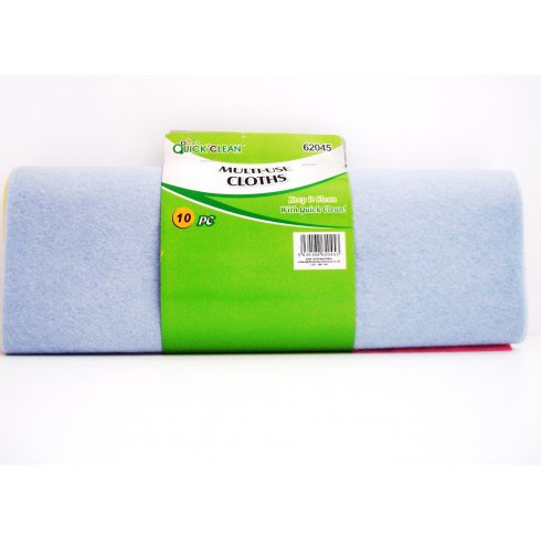 Quick Clean Multi Use Cloths Large 10 Pack
