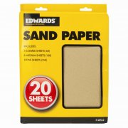 Sand Paper Sheets Assorted Pack of 20 Sheets
