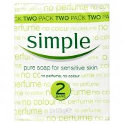 Simple Pure Soap For Sensitive Skin 2 Pack 125g