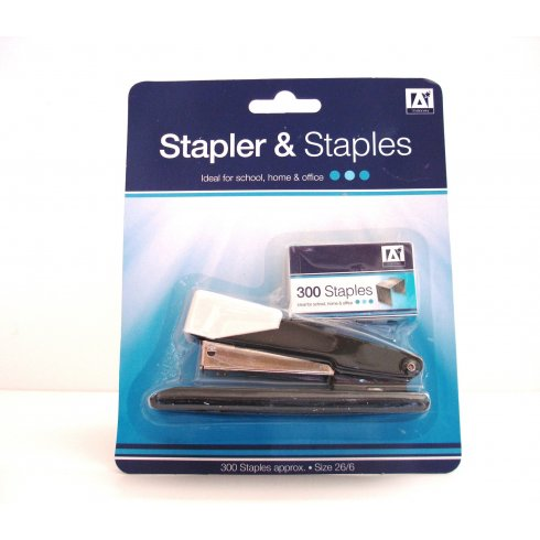Stapler And Staples Pack Approximately 300 Staples Size 26/6