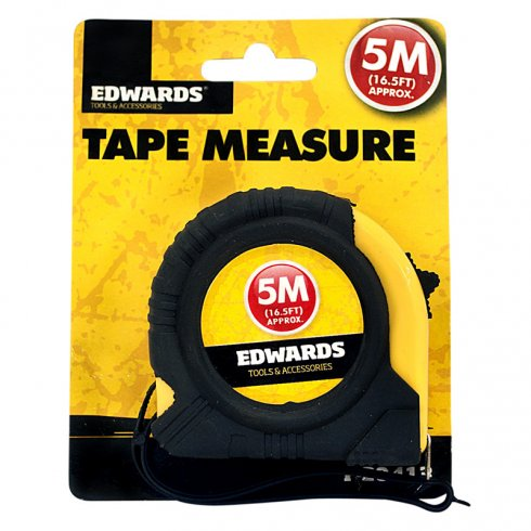 Tape Measure 5M/16.5 Feet Approx From Edwards Tools & Accessories
