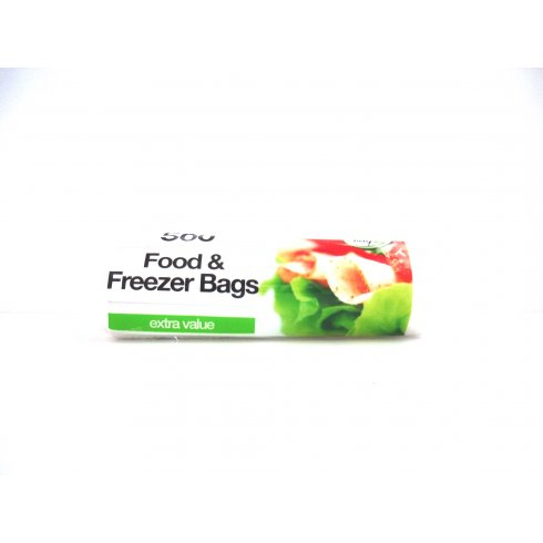 Tidyz Food and Freezer Pack of 500 Bags On a Roll Extra Value for only £1