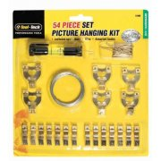 Toot-Tech 54 Piece Picture Hanging Kit Includes Mini Spirit Level