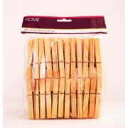 Traditional Wooden Clothes Pegs for Laundry Pack of 48 Pegs