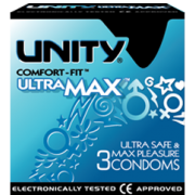 Unity Ultra Max Condoms 3 Pack Ultra Safe & Max Pleasure
