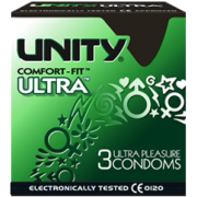 Unity Ultra Pleasure Condoms 3 Pack