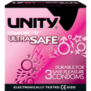 Unity Ultra Safe Condoms 3 Pack Durable For Safe Pleasure
