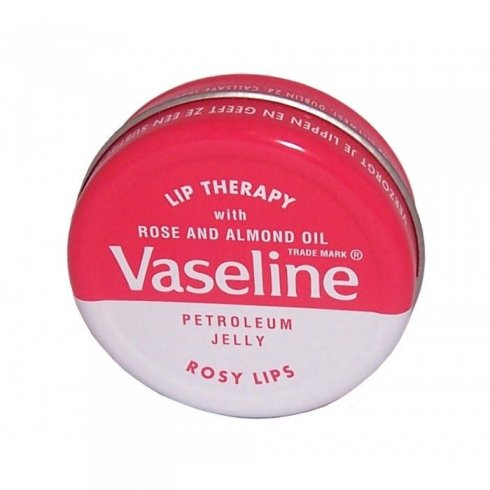 Vaseline Lip Therapy Petroleum Jelly With Rose and Almond Oil Tin 20g