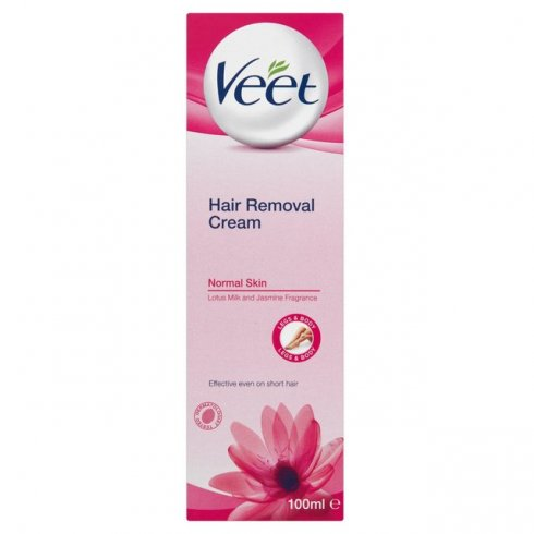 Veet Hair Removal Cream for Normal Skin with Lotus Milk and Jasmine Fragrance 100ml